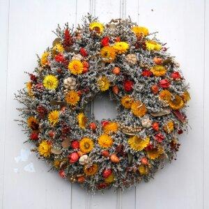 Türkranz Statice gelbe Strohblumen 49 cm
