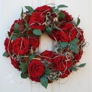 tuerkranz xl roten rosen 50 cm