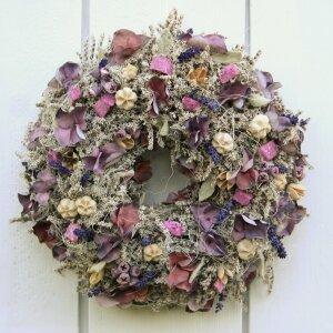 Türkranz mit Naturmaterialien und Lavendel 32 cm