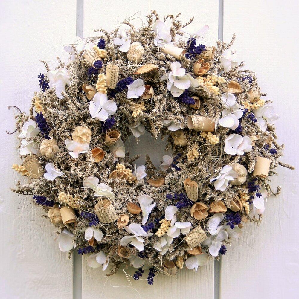 Türkranz mit Lavendel und Naturmaterialien 32 cm