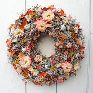 Türkranz XL mit Rosen und Ahornblätter 45 cm
