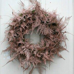 Türkranz mit Plumosus Zweigen Kupfer 45 cm