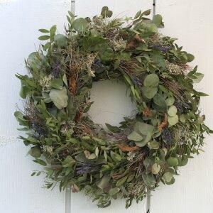 Türkranz mit Eukalyptus und Lavendel getrocknet 44 cm