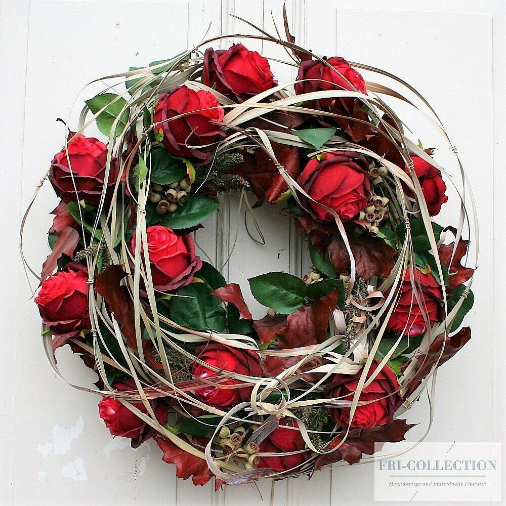 Türkranz XXL rote Rosen
