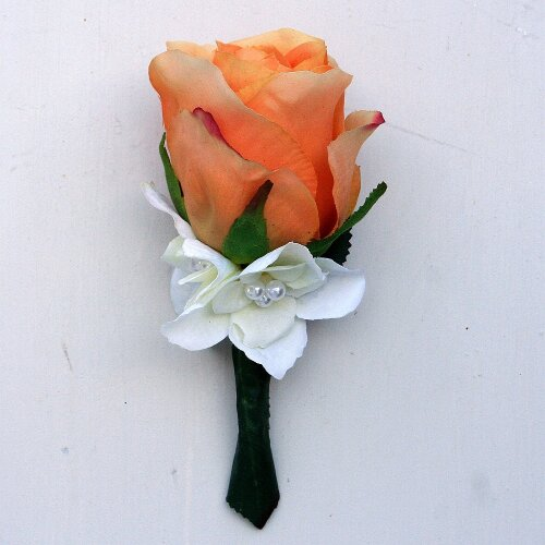 Hochzeitsanstecker Anstecker Rose orange